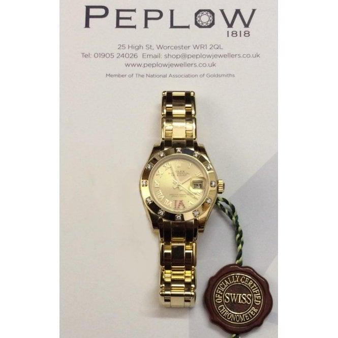 Rolex Watches Rolex Ladies 18ct Yellow Gold Watch 80318 72948 0163
