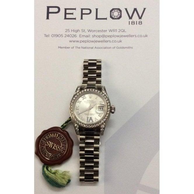 Rolex Watches Rolex Ladies 18ct White Gold President Rolex 179159 83139