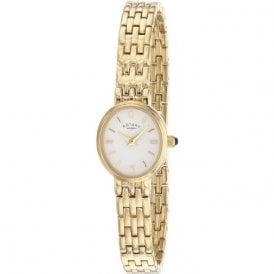 Rotary Ladies Gold Plated Quartz Watch LB02084 02