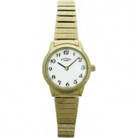 Rotary Ladies Gold Plated Quartz Watch LB100762