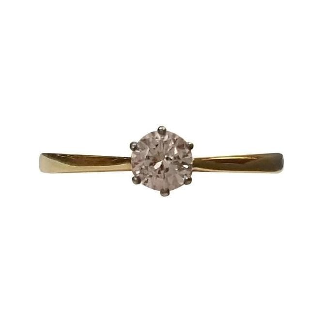 Second Hand 18ct White and Yellow Gold Diamond Ring
