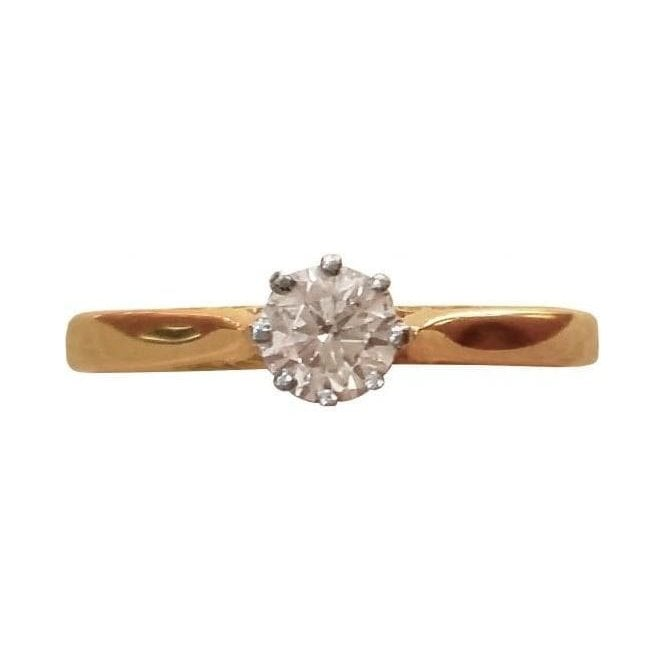 Second Hand 18ct Yellow and White Gold Diamond Ring