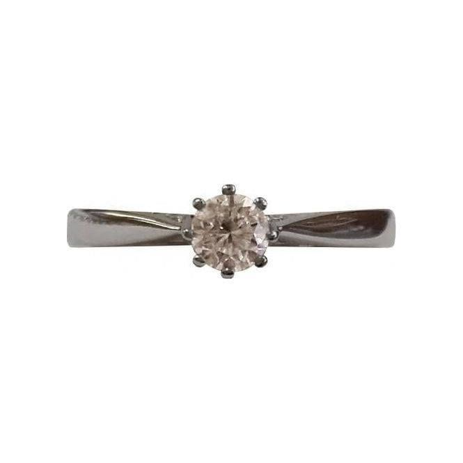 Second Hand White Gold Single Stone Diamond Ring