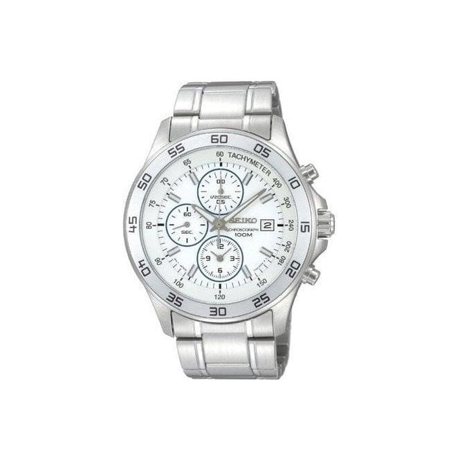 Seiko Watches Seiko Mens Stainless Steel Alarm Chronograph Watch SNDA71P1