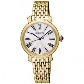 Ladies gold PVD Seiko quartz SRZ498P1