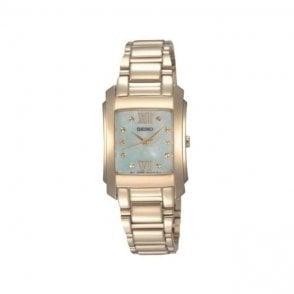 Seiko Ladies Gold Plated Watch SRZ368P1