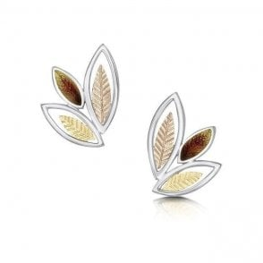 Sheila Fleet Seasons Leaves Stud Earrings