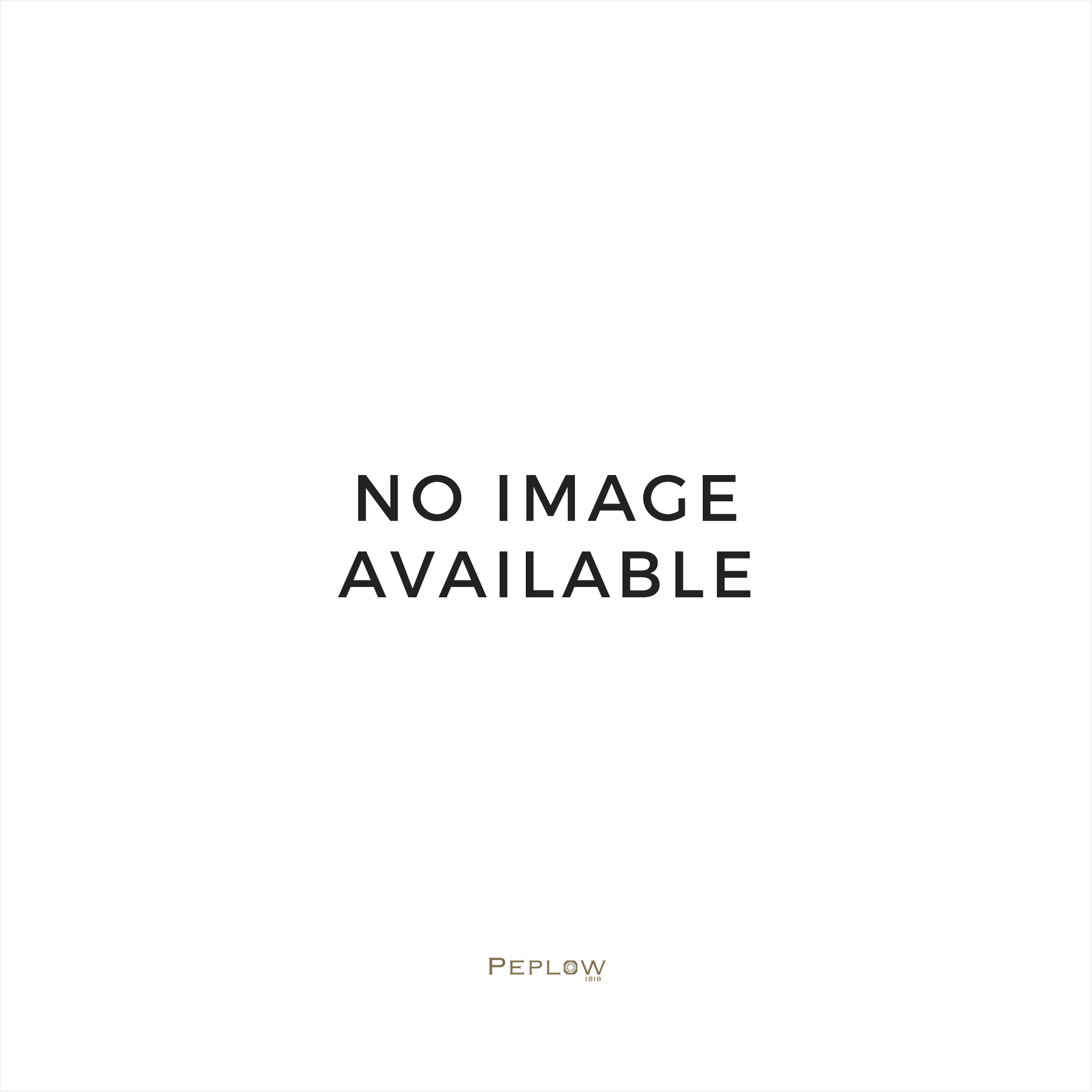 Sterling silver large cushion sapphire & CZ ring