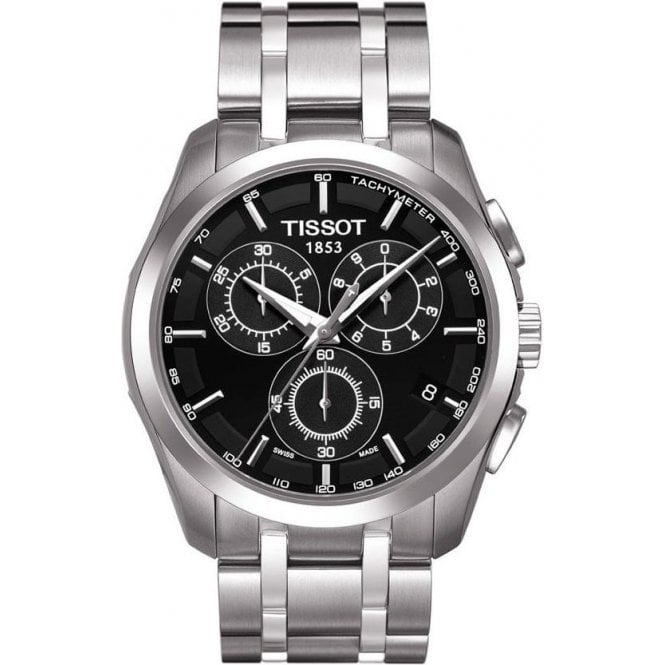 Tissot Watches Tissot Gents Couturier Watch on a Stainless Steel Bracelet