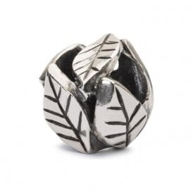 Trollbeads Leaves of Grace silver charm.