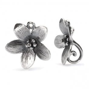 Trollbeads Silver Troll Anemone Earrings