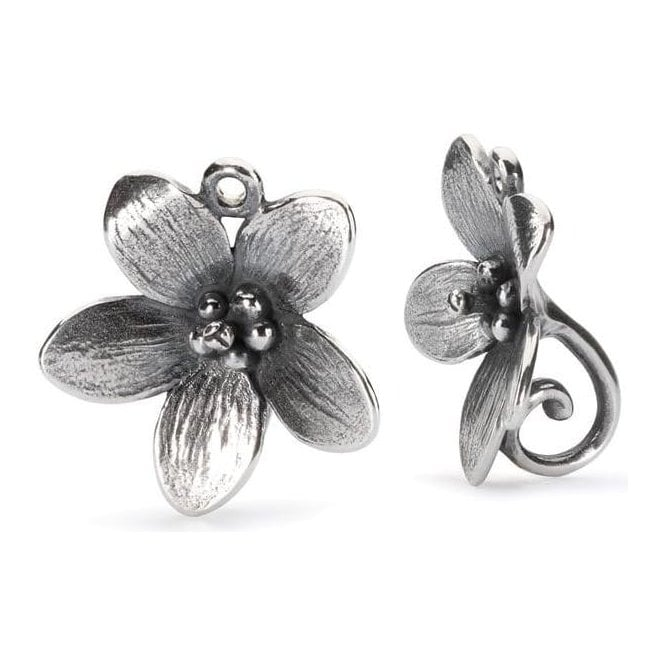 Trollbeads Silver Troll Anemone Earrings