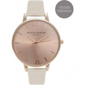 Vegan friendly nude & rose gold watch OB16BDV01