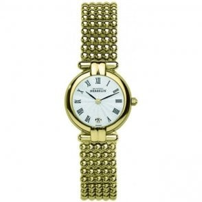 Womens gold plated Perle bracelet watch